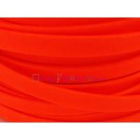 Cuero plano  6 mm. Naranja Flúor. (20 cm)