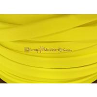 Cuero plano 6 mm. Amarillo  Flúor. (20 cm)