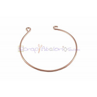 Brazalete pulsera rigida ORO ROSA  57 mm para conectores