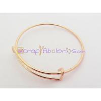 Base de pulsera oro rosa expandible Caña 60 mm