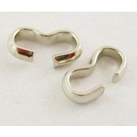 Grapa metalica plateada 8x4 mm, grosor 2 mm ( 20 uds)