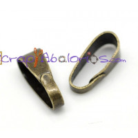 Fornitura metalica enganche bronce 11x4 mm ( 10 uds)