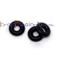 Tope separador de goma 6 mm  para abalorios ( 10 uds)