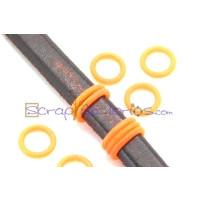Tope separador PVC 2x12 mm NARANJA FLUOR para regaliz  ( 10 uds)