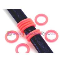 Tope separador PVC 2x12 mm FUCSIA FLUOR para regaliz  ( 10 uds)