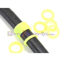 Tope separador PVC 2x12 mm AMARILL FLUOR para regaliz  ( 10 uds)