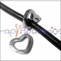 Cierre zamak baño plata corazón clip alta seguridad 20x16 mm