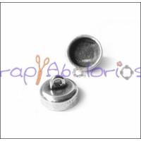Cierre zamak baño plata iman pequeño 6.8x5.3 mm , int 2 mm