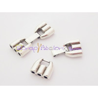 Cierre ZAMAK grapa 38x15 mm triple cordon de 3 mm