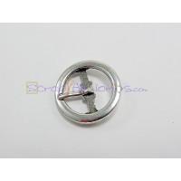 Hebilla cierre para scrap 24 mm ( baño plata)