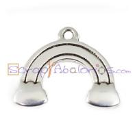 Colgante ZAMAK baño plata ARCOIRIS 23x20 mm