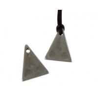 Colgante ZAMAK baño plata triangulo inverso 20x15 mm