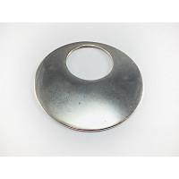 Colgante ZAMAK baño plata medallon circulo 60 mm
