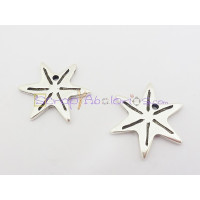 Colgante ZAMAK  estrella  con raya 30  mm