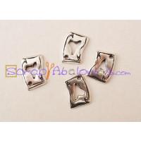 Colgante ZAMAK baño plata naipe corazon  17x 11 mm