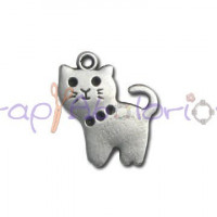 Colgante ZAMAK gatito con collar 23x18 mm