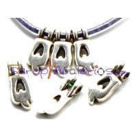 Colgante ZAMAK letras 9 mm , int 2.2 mm- Letra Q