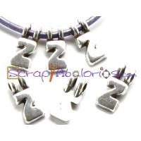Colgante ZAMAK letras 9 mm , int 2.2 mm- Letra Z