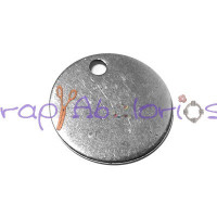 Colgante ZAMAK chapa lisa ideal para grabar 15  mm