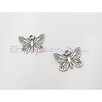 Colgante ZAMAK  mariposa dibujada 14x15 mm
