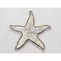 Colgante ZAMAK baño plata estrella de mar gigante 70x65 mm