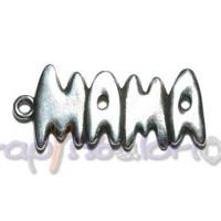Colgante Zamak baño plata palabra MAMA Grande 50x22 mm