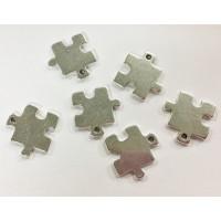 Colgante Zamak baño plata forma Puzzle 20 mm ideal grabar