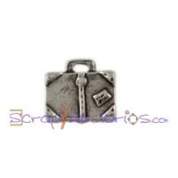 Colgante Zamak baño plata - Harry Potter - Maleta magica 13x9 mm