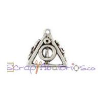 Colgante Zamak baño plata - Harry Potter - Reliquias  19x17mm