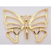 Colgante ZAMAK  dorado  mariposa gigante 80x 60 mm