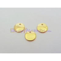 Colgante ZAMAK Dorado  lisa ideal grabar 12  mm