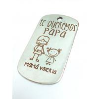Colgante Zamak baño plata chapa-te queremos PAPA dibujos (zc761)