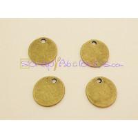 Colgante ZAMAK  bronce moneda lisa 15 mm ( ideal para grabar)