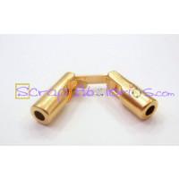 Cierre ZAMAK  dorado tubular 16x6 mm. Taladro 3 mm