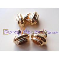 Cierre ZAMAK  dorado garfio 27x20x12 mm para cuero regaliz