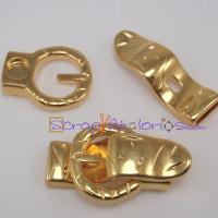 Cierre Zamak dorado 37x21 mm hebilla pequeña para tira 10 mm