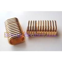 Cierre iman ZAMAK dorado con rayas para regaliz 23x14 mm