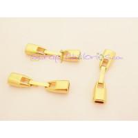 Cierre ZAMAK dorado grapa clip para cuero plano 5 mm