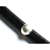 Boton Zamak plateado para cuero regaliz 12x11 mm