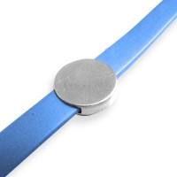 Entrepieza zamak baño plata pasador moneda grabar 18 mm, int 10x2 mm