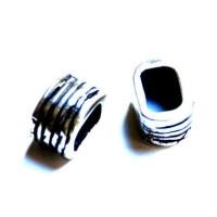 Tubo ancho rayas para cuero regaliz 16x13x10  mm