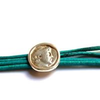 Pasador moneda cara de Zamak  19 mm, taladro paso 10x2.5 mm