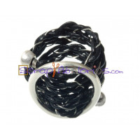 Entrepieza Zamak plateado hebilla lisa 22x22  mm (base anillo)