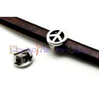 Entrepieza ZAMAK para regaliz simbolo de la paz.15x15 mm
