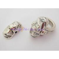 Accesorio anillo Zamak baño plata oval irregular 26x12 mm.