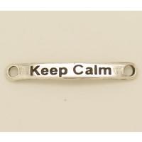 Entrepieza  Zamak BAÑO PLATA 40x7 mm- Keep Calm