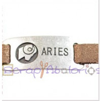 Entrepieza Zamak baño plata 36x19 mm- Horoscopo- Aries