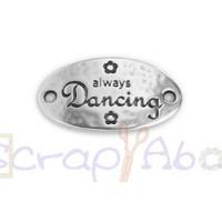 Entrepieza zamak baño plata conector oval DANCING 31X17 mm