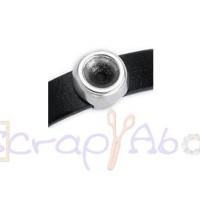 Entrepieza zamak baño plata moneda para SS39,14 mm.INT 10x2.5 mm