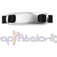 Entrepieza pulsera zamak baño plata placa ideal grabar 55x16 mm, int 10x2 mm